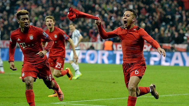 Thiago beats Juve in Champions League