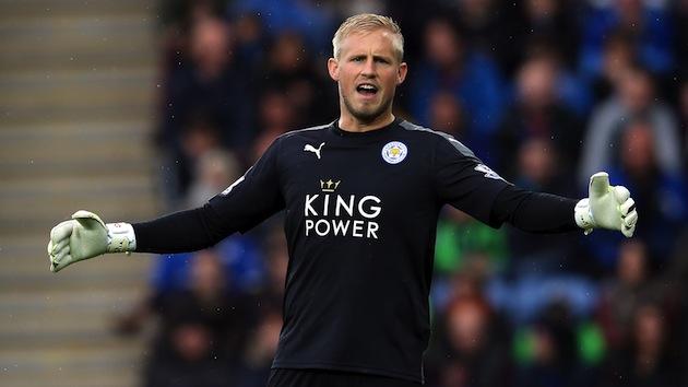Leicester keeper Schmeichel