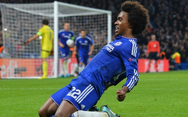 Willian scores for Chelsea