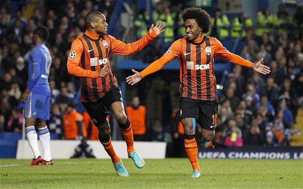 Willian with Shakhtar