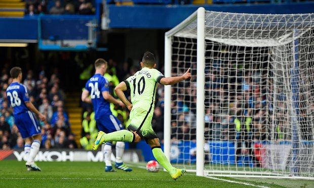 Sergio Aguero scores hat trick on Chelsea
