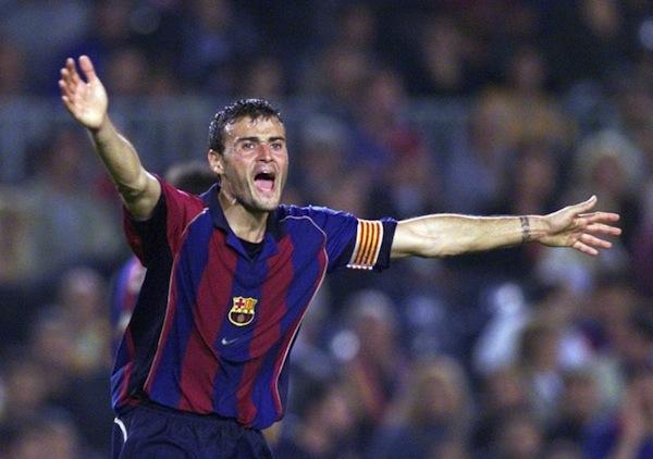 Luis Enrique as Barca player