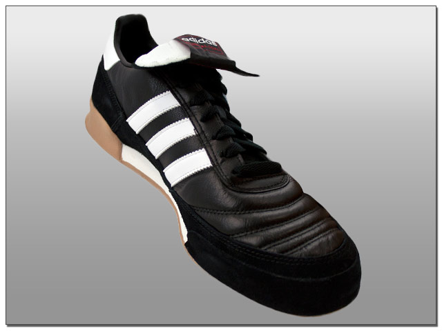 adidas Mundial Goal Indoor Soccer Shoes - Black with White