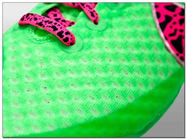 A closeup of the new NikeSkin upper