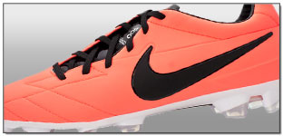 Nike T90 Laser IV FG Soccer Cleats – Bright Mango with Black