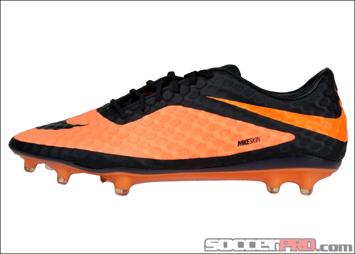 Nike Hypervenom Phantom FG Soccer Cleats - Black with Bright Citrus