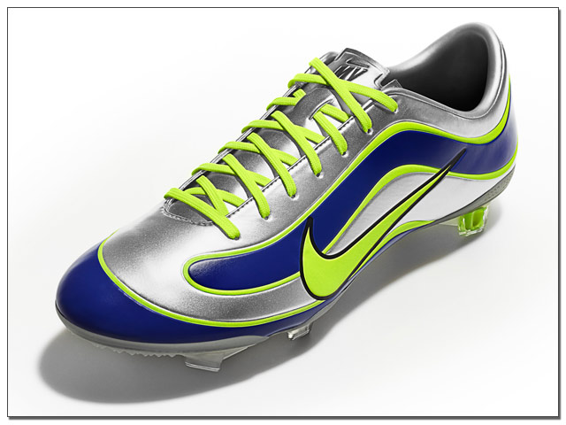 The Nike Mercurial Vapor IX SE FG 15th Anniversary Soccer Cleats - Silver with Bright Blue