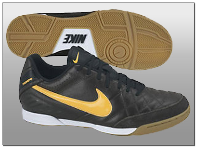 Nike Tiempo Natural IV Indoor- Dark Charcoal with Laser Orange Leather MSRP $49.99