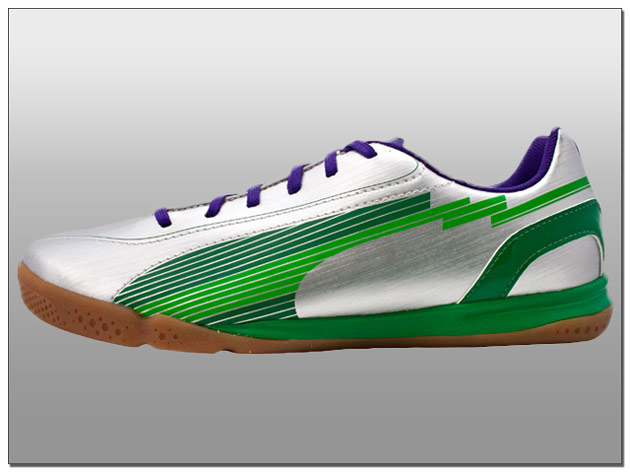 Puma Youth evoSPEED 5 IT – Silver with Green MSRP $49.99