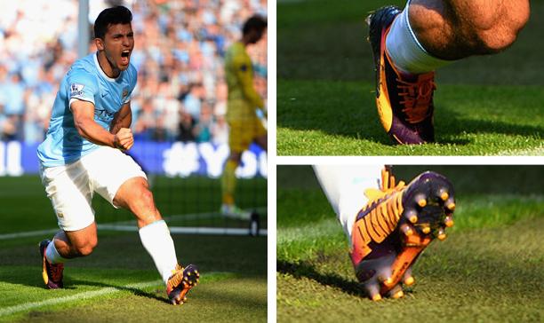 Sergio Aguero Manchester City Puma evoSPEED edited