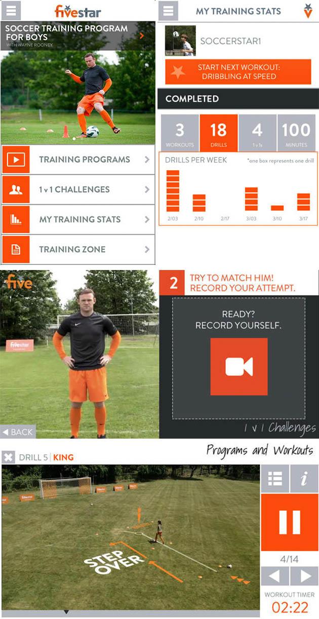 soccer training shots