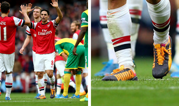 Mikel Arteta Arsenal Puma evoSPEED edited