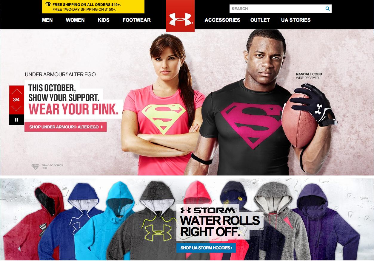 under armour corporate website