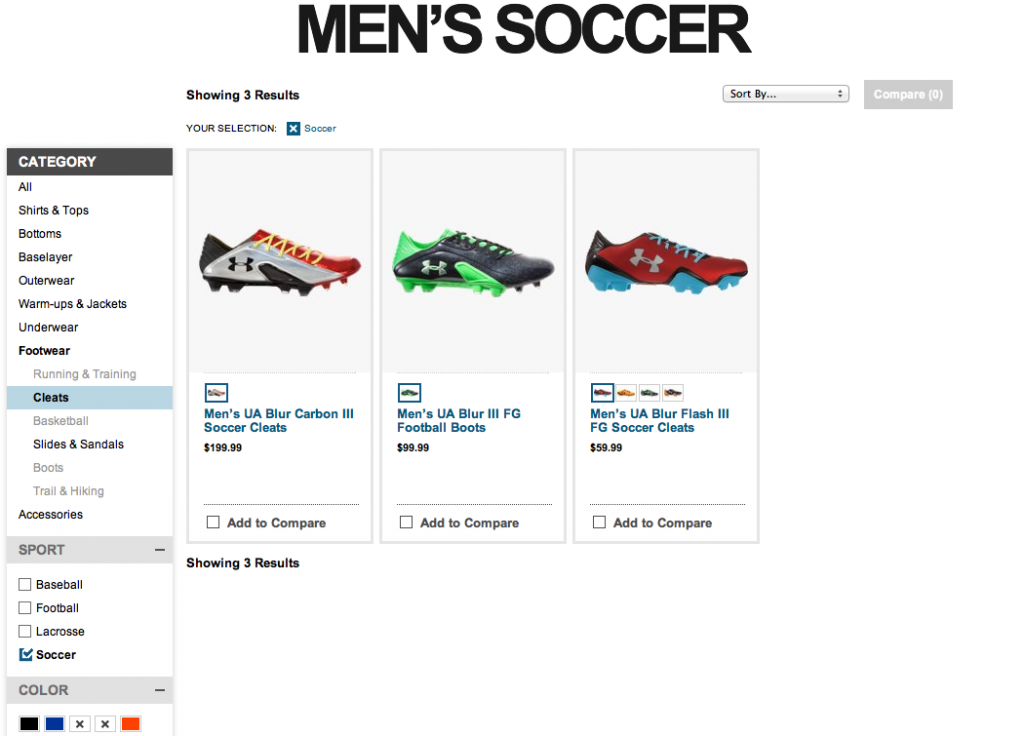 Under Armour Soccer Shoes Selection