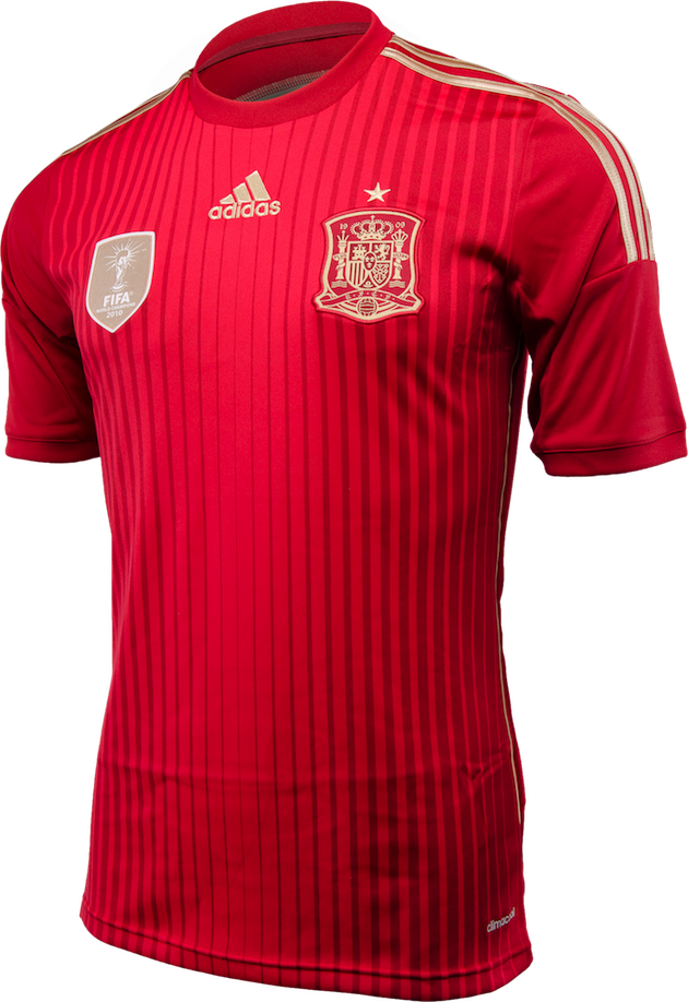 Mens 2014 15 spain home world cup football shirt red for Spain t shirt football