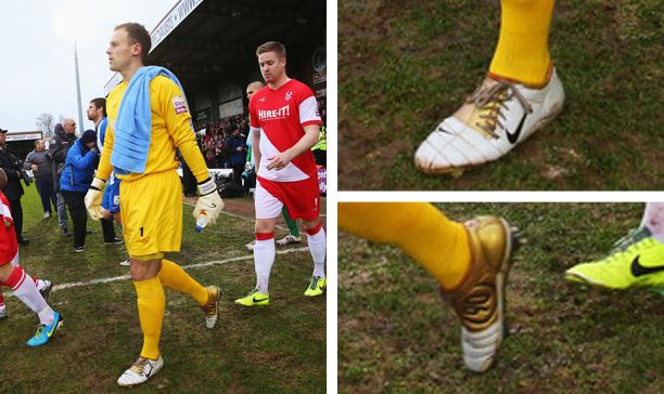 Daniel Lewis Kidderminster Harriers Nike Air Zoom Total 90 III edited