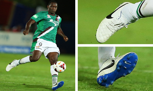 Emile Heskey Newcastle Jets Nike Tiempo IV edited