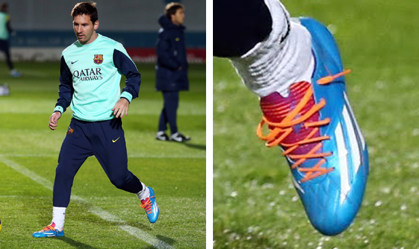 8a1a289ab00 Is Messi Wearing Special Customised F50 adiZeros  - The Instep