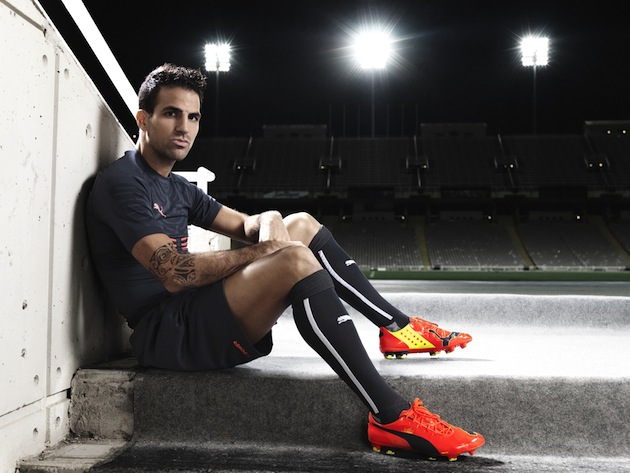 Fabregas in Puma evoPOWER