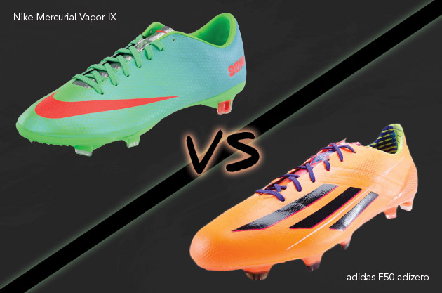 Parche Mercado galope  F50 adiZero vs. Mercurial Vapor Comparison: Final Round - The Instep