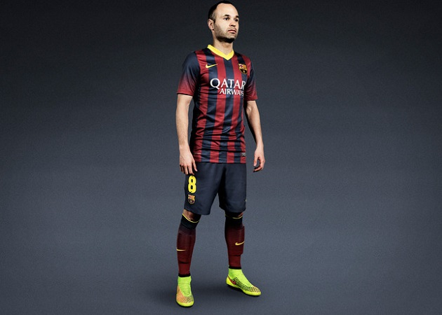 Iniesta with Magista