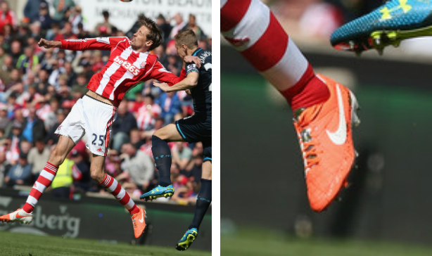 Peter Crouch Stoke Nike Tiempo V edited