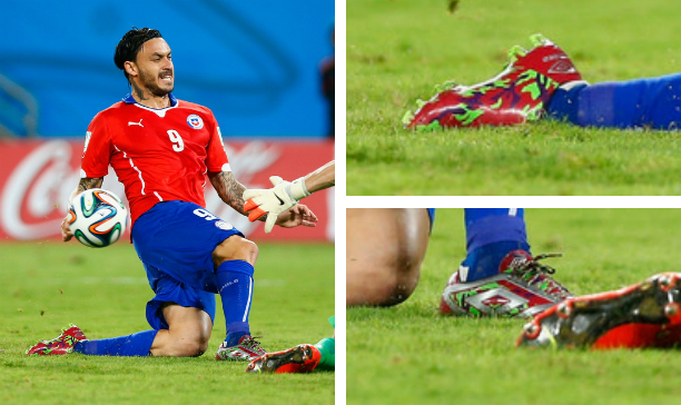 Mauricio Pinilla Chile custom Umbro Geoflare edited