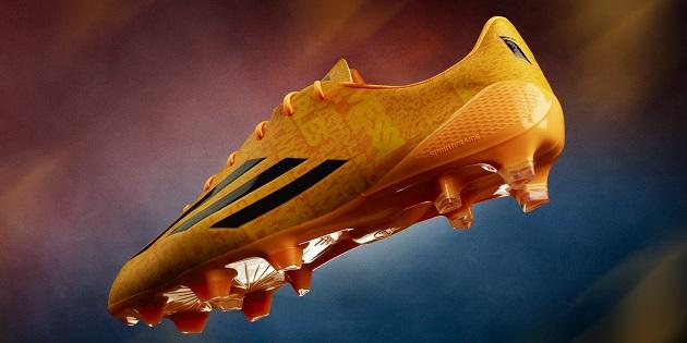 98be174e4 Messi s adidas F50 adiZero Goes Solar Gold - The Instep