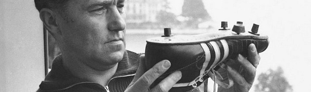 Adi Dassler with boot