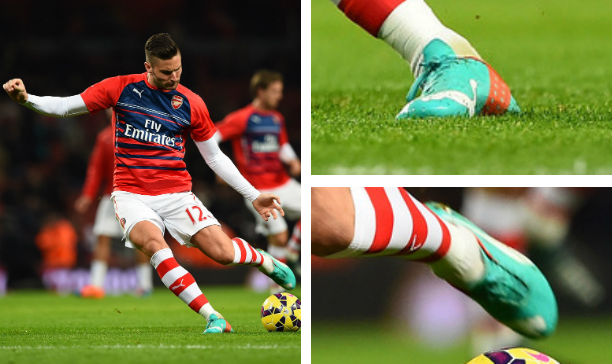 Oliver Giroud Arsenal Puma evoSPEED edited