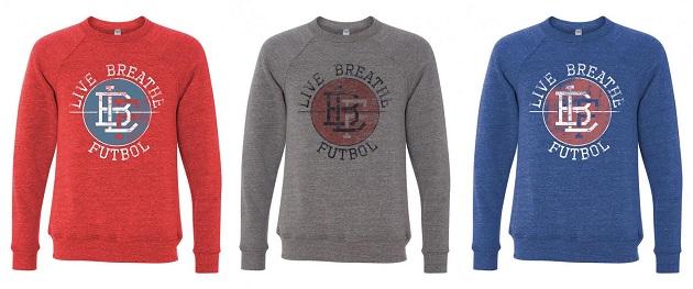 Live Breathe Futbal shirts