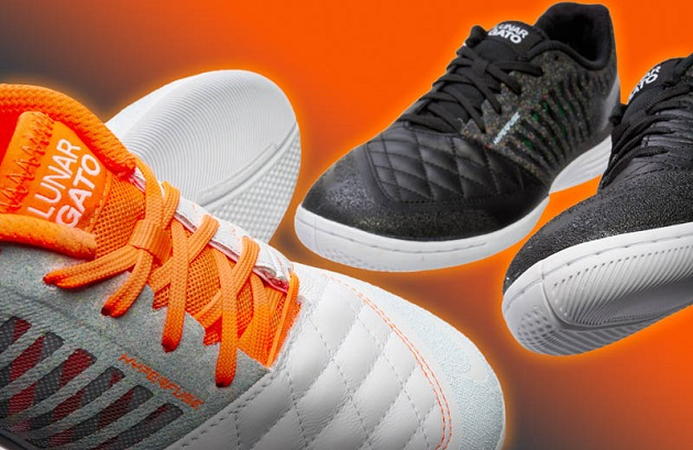 White and black Nike Lunargatos
