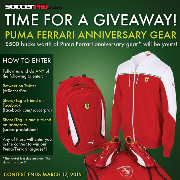 Puma and Ferrari collection giveaway
