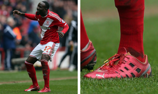 Albert Adomah Middlesborough PUMA EVOSPEED 13 F947 edited