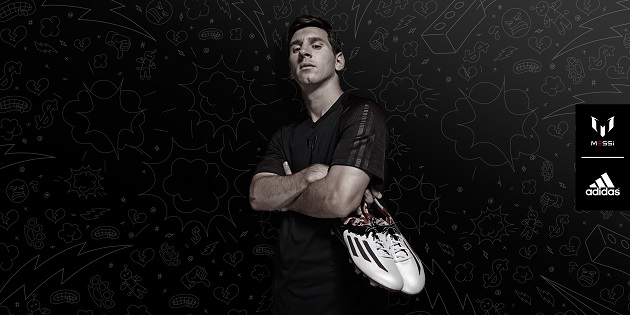 Messi with adidas 10.1 boots