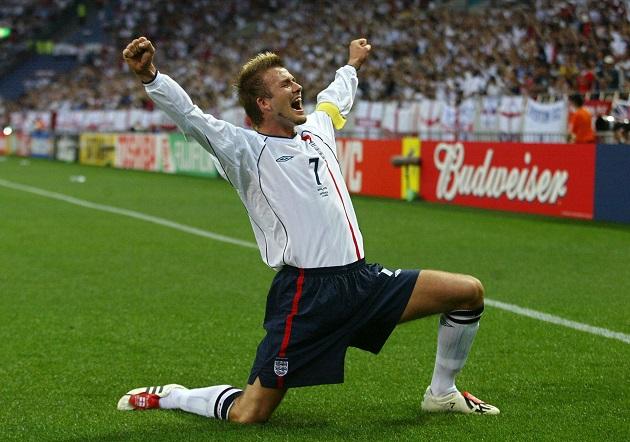 England's midfielder David Beckham celeb