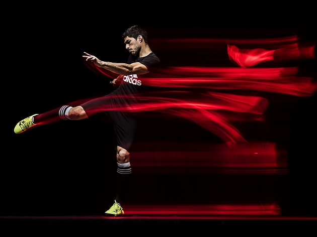 Luis Suarez with adidas X