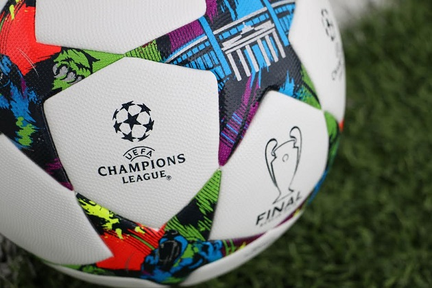 Closeup of Champions League Final match ball