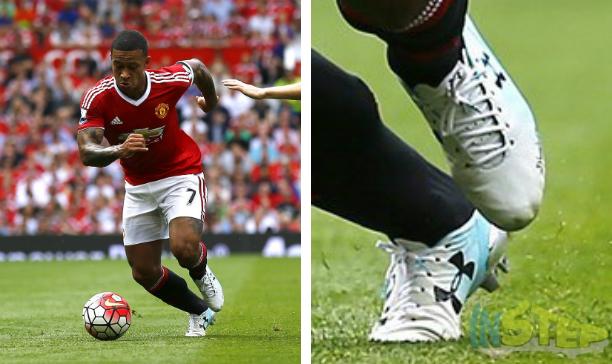 Memphis Depay Manchester United UA Speedform edited