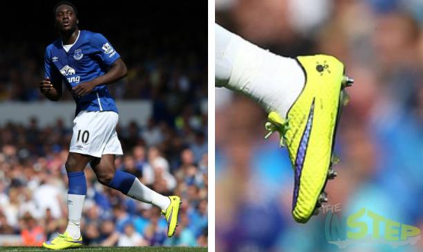 Romelu Lukaku Everton Nike Hypervenom edited