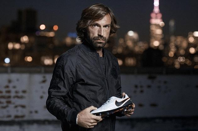 Pirlo with Nike Tiempo Legend VI