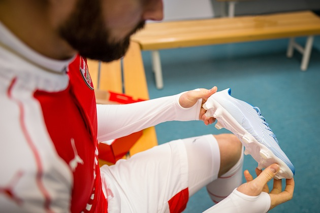 Giroud with Puma evoPOWER 1.3 in Camo