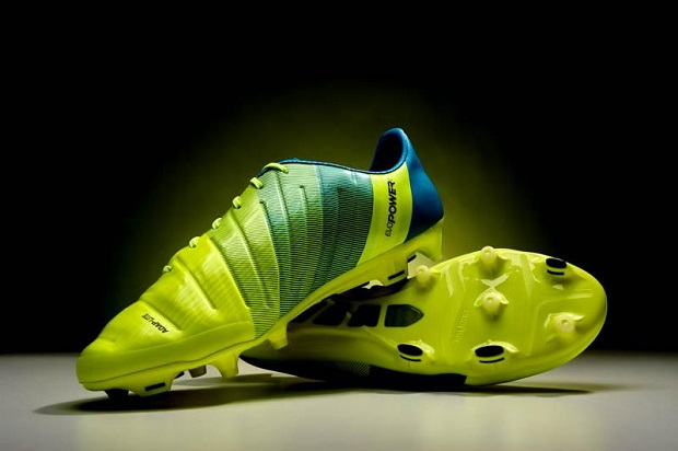 Yellow and blue Puma evoPOWER 1.3