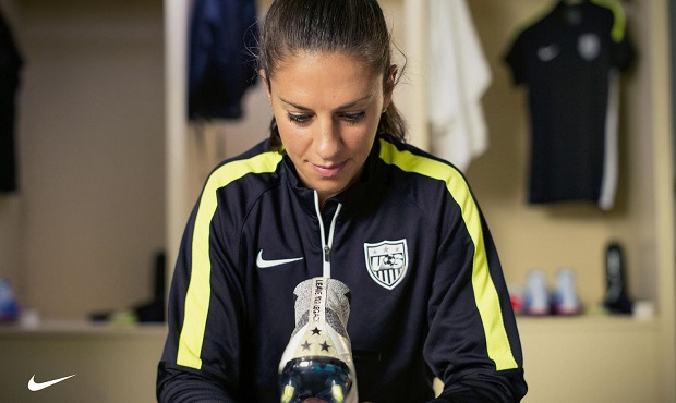 Carli Lloyd with her Mercurial Superfly