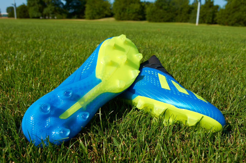 The outsole of the adidas X18.1