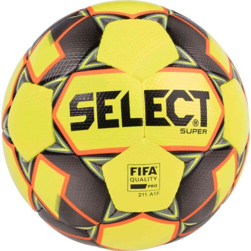 Select Super FIFA Premium Match Soccer Ball – Yellow/Black