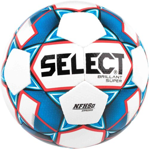 Select NFHS Brillant Super Premium Match Soccer Ball – White/Blue/Red