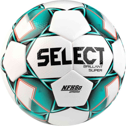 Select NFHS Brillant Super Premium Match Soccer Ball – White & Green