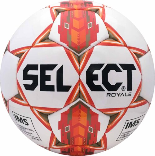 Select Royale NFHS Match Soccer Ball – White/Orange