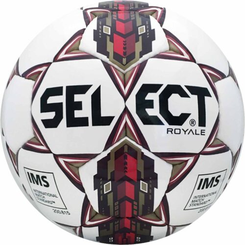 Select Royale NFHS Match Soccer Ball – White/Maroon